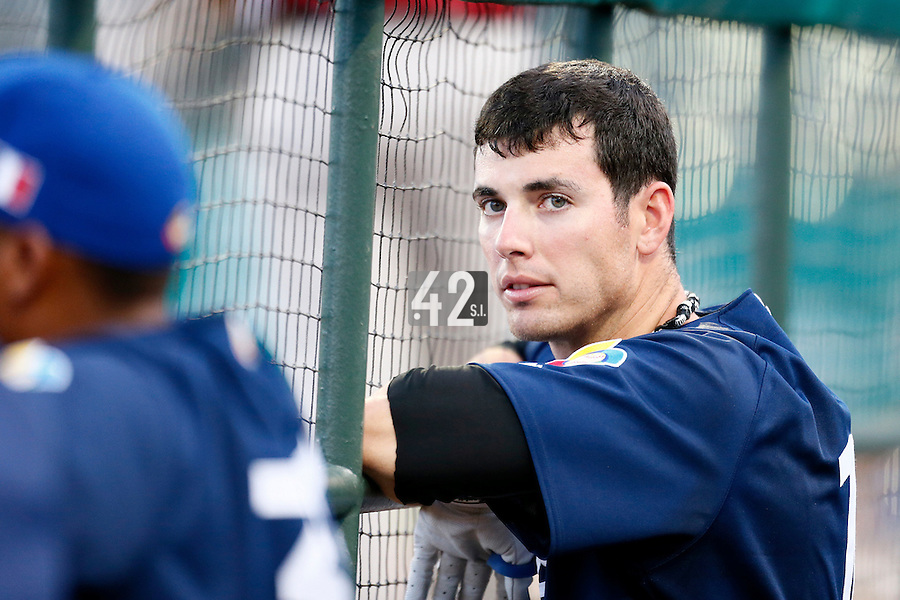20 September 2012: Emmanuel Garcia is seen in the dugout during Spain 8-0 win over France, at the 2012 World Baseball Classic Qualifier round, in Jupiter, Florida, USA.