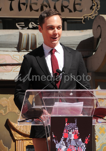 29 September 2016 - Hollywood, California. Jim Parsons. Jeffrey Katzenberg Hand And Footprint Ceremony held at The TCL Chinese Theater. Photo Credit: Birdie Thompson/AdMedia