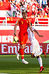Wu Lei of China heads the ball during the AFC Asian Cup UAE 2019 Group C match between China (CHN) and Kyrgyz Republic (KGZ) at Khalifa Bin Zayed Stadium on 07 January 2019 in Al Ain, United Arab Emirates. Photo by Marcio Rodrigo Machado / Power Sport Images