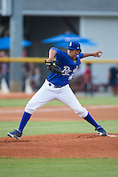 Burlington Royals starting pitcher Enmanuel Camacho (46) in action against the Greeneville Astros at Burlington Athletic Park on August 29, 2015 in Burlington, North Carolina.  The Royals defeated the Astros 3-1. (Brian Westerholt/Four Seam Images)