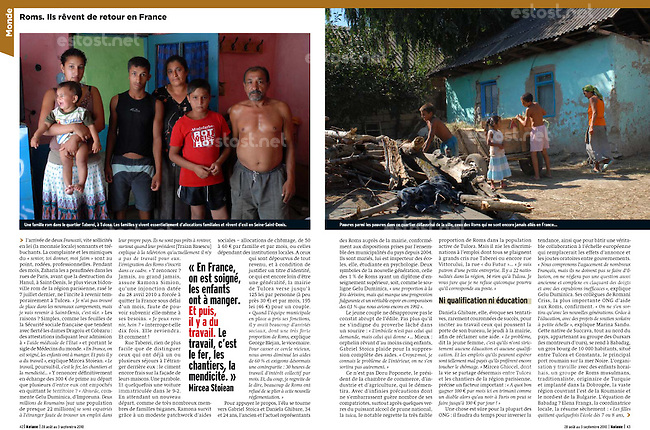Publication du reportage de Bruno Cogez dans le magazine Marianne du 28/08/2010...Publication of report by Bruno Cogez in the magazine Marianne from 2010/08/28...© Bruno Cogez / Est&Ost Photography