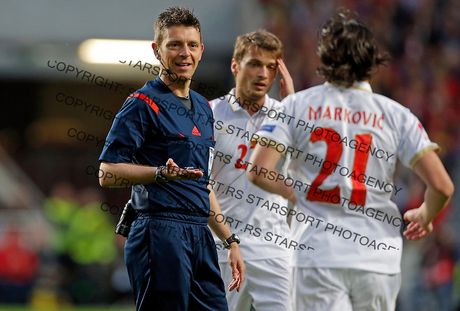 Gianluca Rocchi Uefa EURO 2016 qualifying football match between Portugal and Serbia in Lisboa, Portugal on March 29. 2015.  (credit image & photo: Pedja Milosavljevic / STARSPORT)