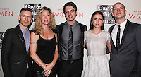 "BEVERLY HILLS, CA, USA - MAY 10: Brad Bredeweg, Teri Polo, David Lambert, Maia Mitchell, Peter Paige at the ""An Evening With Women"" 2014 Benefiting L.A. Gay & Lesbian Center held at the Beverly Hilton Hotel on May 10, 2014 in Beverly Hills, California, United States. (Photo by Celebrity Monitor)"