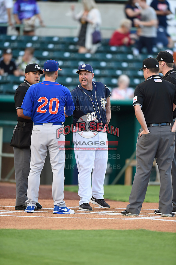 ***Temporary Unedited Reference File***San Antonio Missions manager Phillip Wellman (30) during a game against the Midland RockHounds on April 21, 2016 at Nelson W. Wolff Municipal Stadium in San Antonio, Texas.  Midland defeated San Antonio 9-2.  (Mike Janes/Four Seam Images)