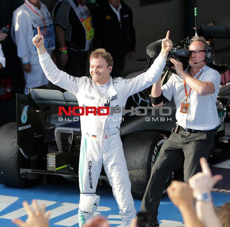 20.03.2016. Albert-Park-Circuit, Melbourne,  AUS, F1, Formula 1 Rolex Australien Grand Prix,  Race01 im Bild   <br /> Sieger des Rennens Nico Rosberg (GER#6), Mercedes AMG Petronas Formula One Team<br /> <br /> <br /> Foto &copy; nordphoto /  Bratic