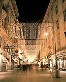 AUSTRIA, Vienna, illuminated street scene during Christmas