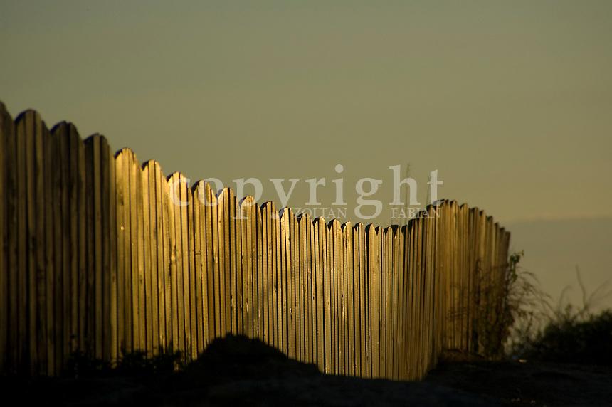 Wooden fence in Smögen, Sweden, Europe