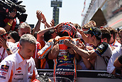 June 11th 2017, Barcelona Circuit, Montmelo, Catalunya, Spain; MotoGP Grand Prix of Catalunya, Race Day; Marc Marquez (Repsol Honda) celebrates his 2nd place