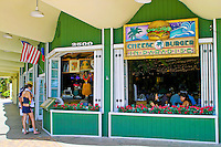 The Cheeseburger in Paradise restaurant is a favorite stop for tasty local delights. This one located on Kalakaua Ave. across from beautiful Waikiki Beach.