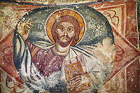 Picture & image the interior medieval frescoes of Christ Pantocrator in Khobi Georgian Orthodox Cathedral, 13th century,  Khobi Monastery, Khobi, Georgia.