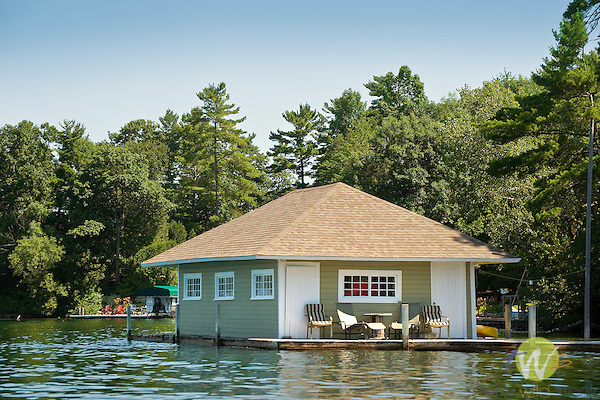 Lake George boathouse, NY.
