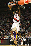 04/08/11--Trailblazers' LaMarcus Aldridge dunks the ball in the second half of Portland's 93-86 win over L.A. at the Rose Garden..Photo by Jaime Valdez.........................................