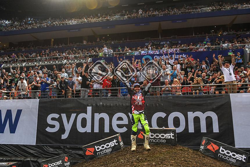 SX 2 / Jay Wilson 2018 Series Champion<br /> 2018 SX Open - Sydney <br /> Australian Supercross Championships<br /> Qudos Bank Area / Sydney Aus<br /> Saturday Nov 10th 2018<br /> &copy; Sport the library/ Jeff Crow / AME