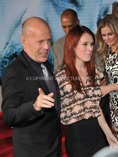 WWW.ACEPIXS.COM . . . . . ....September 24 2009, New York City....Actors Bruce Willis and Rumer Willis arriving at the world premiere of 'Surrogates' at the El Capitan Theater on September 24, 2009 in Hollywood, Los Angeles....Please byline: JOE WEST - ACEPIXS.COM....Ace Pictures, Inc:  ..(212) 243-8787 or (646) 679 0430..e-mail: picturedesk@acepixs.com..web: http://www.acepixs.com