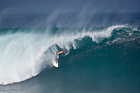 ANTHONY WALSH (AUS) surfing at Banzai Pipeline, North Shore of Oahu, Hawaii. Photo: joliphotos.com