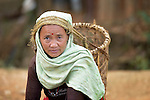 A woman in Dhawa, a village in the Gorkha District of Nepal.
