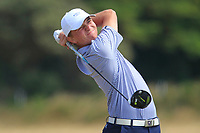 Tyler Carlson (The Concession) on the 12th tee during Round 2 - Strokeplay of the North of Ireland Championship at Royal Portrush Golf Club, Portrush, Co. Antrim on Tuesday 10th July 2018.<br /> Picture:  Thos Caffrey / Golffile