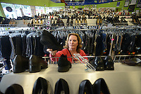 Mariann Cook of Trenton, New Jersey shops at Good Stuff Thrift shop Thursday August 13, 2015 in Fairless Hills, Pennsylvania. (Photo by William Thomas Cain)