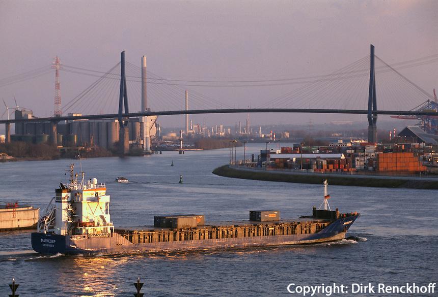 Deutschland, Hafen in Hamburg, Köhlbrandbrücke