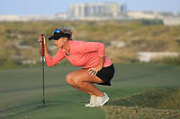 Amy Boulden (WAL) during the first round of the Fatima Bint Mubarak Ladies Open played at Saadiyat Beach Golf Club, Abu Dhabi, UAE. 10/01/2019<br /> Picture: Golffile | Phil Inglis<br /> <br /> All photo usage must carry mandatory copyright credit (© Golffile | Phil Inglis)