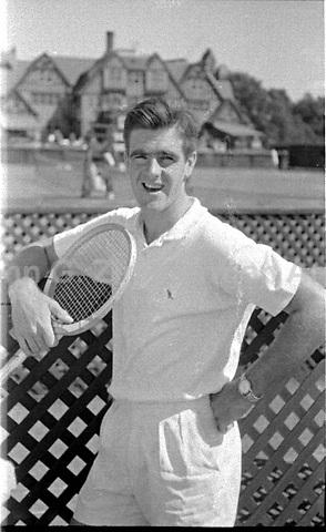 Australian Tennis Player Bob Mark (1937-2006), Forest Hills New York, 1956. Photograph by John G. Zimmerman.
