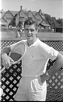 Australian Tennis Player Bob Mark (1937-2006), Forest Hills New York, 1956. Photograph by John G. Zimmerman.