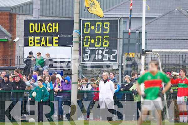 Full time score in the replay of the Bernard O'Callaghan Memorial Senior Football Championship final last Sunday in Frank Sheehy Park, Listowel.