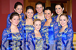 Pictured at the Munster finals of Sco?r Sinnsear in the Gleneagle Hotel on Saturday were the Glenflesk Dancers l-r: Cait O'Sullivan, Angela McCarthy, Joanne Cashman, Niamh Favier, Mairead Cashman, Jennifer McCarthy, Linda McCarthy and Lisa Cronin.   Copyright Kerry's Eye 2008