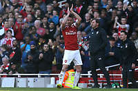 Aaron Ramsey of Arsenal applauds the fans after being substituted during Arsenal vs Southampton, Premier League Football at the Emirates Stadium on 24th February 2019