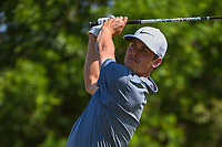 Cody Gribble (USA) watches his tee shot on 9 during Round 1 of the Valero Texas Open, AT&amp;T Oaks Course, TPC San Antonio, San Antonio, Texas, USA. 4/19/2018.<br /> Picture: Golffile | Ken Murray<br /> <br /> <br /> All photo usage must carry mandatory copyright credit (&copy; Golffile | Ken Murray)
