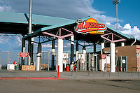 Ballparks: Adelanto, CA. Maverick's Stadium, 1991. Entrance--seating capacity 3808.