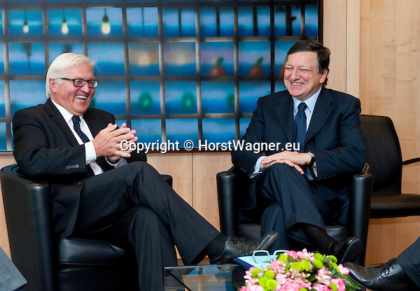 Brussels - Belgium, June 05, 2012 -- MdB Frank-Walter STEINMEIER (le), chairman of the SPD's parliamentary group in the Bundestag (German Parliament), for political talks in Brussels; here, with Jose (José) Manuel BARROSO (ri), President of the European Commission -- Photo: © HorstWagner.eu
