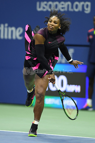 FLUSHING NY- AUGUST 30: Serena Williams Vs Ekaterina Kakarova on Arthur Ashe Stadium at the USTA Billie Jean King National Tennis Center on August 30, 2016 in Flushing Queens. Credit: mpi04/MediaPunch
