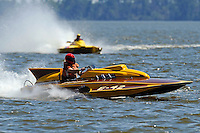 """Ray Maloney, E-42 """"go,go, girl"""" (Lauterbach 280 class hydroplane) and Mike Yobe, CE-4 """"Pure Canadian"""", (280 class cabover hydroplane)"""