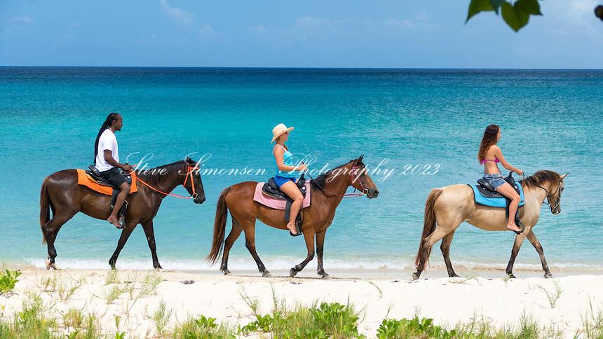 Cruzan Cowgirls<br /> Cowboy Beach<br /> St. Croix<br /> US Virgin Islands