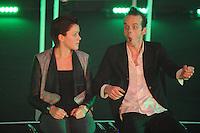 SPORT ALGEMEEN: HEERENVEEN: Trinitas, 18-02-2015, Sportgala Fryslân, Jorien ter Mors, Jeroen Bouwhuis (theatermaker), ©foto Martin de Jong