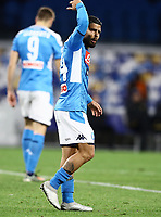 6th January 2020; Stadio San Paolo, Naples, Campania, Italy; Serie A Football, Napoli versus Inter Milan; Lorenzo Insigne of Napoli sees a decision go against him