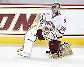 Chris Venti (BC - 30) - The Boston College Eagles defeated the visiting University of Vermont Catamounts 6-0 on Sunday, November 28, 2010, at Conte Forum in Chestnut Hill, Massachusetts.