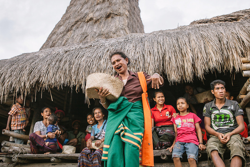 A woman village elder do a dance ritual in front of her traditional house tombs in the village of Wainyapu, Kodi. For many of the the Sumbanese, who still believe in the ancient animism called Marapu, the day around Pasola is considered holy. And many of them came from faraway village in Sumba to watch Pasola. Pasola is an ancient tradition from the Indonesian island of Sumba. Categorized as both extreme traditional sport and ritual, Pasola is an annual mock horse warfare performed in response to the harvesting season. In the battelfield, the Pasola warriors use blunt spears as their weapon. However, fatal accident still do occurs.