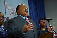 June 24, 2013  (Washington, DC)  Martin Luther King III speaks during a news conference announcing the 50th anniversary March on Washington, June 25, 2013 at the National Press Club. The march, scheduled for August 24, 2013, commemorates the 1963 march led by Dr. Martin Luther King Jr.  (Photo by Don Baxter/Media Images International)