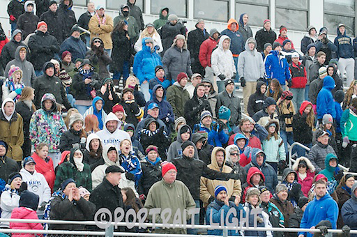 Fans watch the 2012 Central Mass. Division 5 Super Bowl.