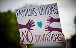 A sign held during a rally outside a federal detention center in Sheridan, Oregon. Participants protested the Trump administration's policy of separating parents from their children at the U.S.-Mexico border.