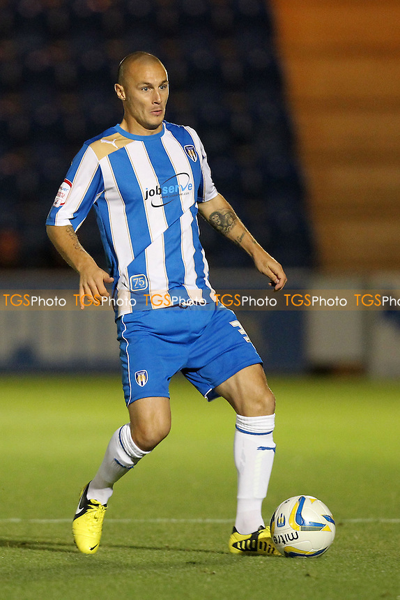 Michael Rose of Colchester United - Colchester United vs Crawley Town - NPower League One Football at the Weston Homes Community Stadium, Colchester, Essex - 18/09/12 - MANDATORY CREDIT: Gavin Ellis/TGSPHOTO - Self billing applies where appropriate - 0845 094 6026 - contact@tgsphoto.co.uk - NO UNPAID USE.