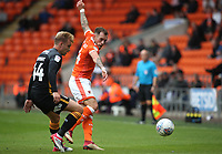 Bradford City's Josh Wright and Blackpool's Harry Pritchard<br /> <br /> Photographer Rachel Holborn/CameraSport<br /> <br /> The EFL Sky Bet League One - Blackpool v Bradford City - Saturday September 8th 2018 - Bloomfield Road - Blackpool<br /> <br /> World Copyright &copy; 2018 CameraSport. All rights reserved. 43 Linden Ave. Countesthorpe. Leicester. England. LE8 5PG - Tel: +44 (0) 116 277 4147 - admin@camerasport.com - www.camerasport.com