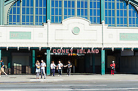 Coney Island - Stillwell Ave subway station entrance, Brooklyn, New York