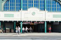Coney Island - Stillwell Ave subway station entrance, Brooklyn, New York