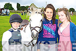 Maeve Johnston, Aoife Johnston and Niamh Joy Killorglin with their Pony Gem who competed at the Killorglin Pony show on Sunday .