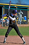 15 April 2009: University at Albany Great Danes infielder Gina Mason, a Sophomore from Sacramento, CA, in action against the University of Vermont Catamounts at Archie Post Field in Burlington, Vermont. The Great Danes swept the Catamounts 2-0 and 12-0 in the afternoon double-header. Mandatory Photo Credit: Ed Wolfstein Photo
