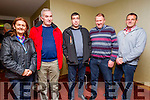 l-r  Helen O'Mahony, Castleisland, Danny O'Mahony, John Kelleher, Patrick Molloy, Pat O'Driscoll, Valentia Island at the IFA Scandal Meeting in Manor West Hotel on Monday