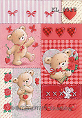 Interlitho, Arthur, VALENTINE, paintings, 3 bears, hearts, mouse(KL4018,#V#)